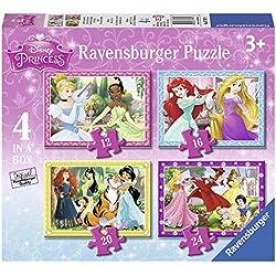 Ravensburger - Disney Princess - 4 Puzzles - 12, 16, 20, 24 Pièces - 14x19cm