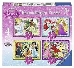 Idea Regalo - Ravensburger 07397 - Disney Princess, 4 Puzzle