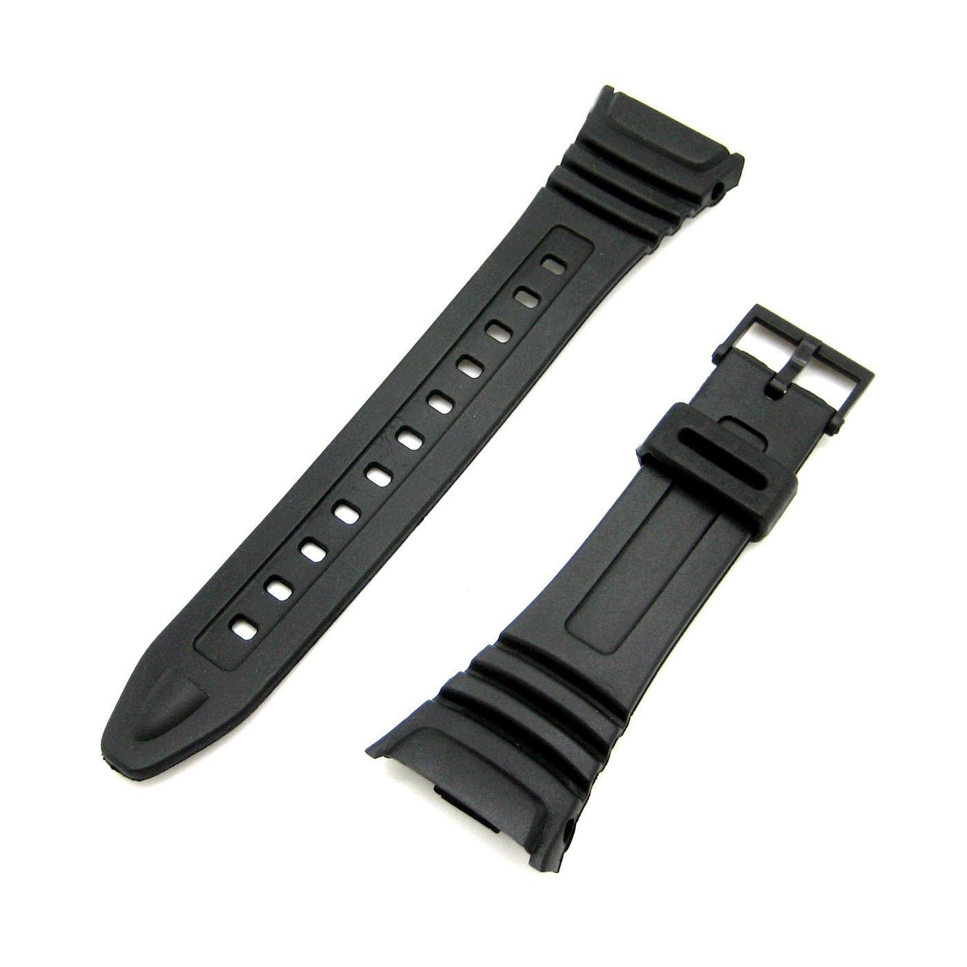 Watch Strap Flexible Black Resin to fit Casio 577EA1 (W96 W-96H W96H)