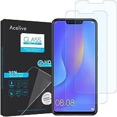 Vetro Temperato Huawei P Smart Plus, Acelive 2-Pezzi Pellicola Protettiva Resistente in Vetro Temperato per Huawei P Smart Plus(Deliberatamente dimensioni inferiori allo schermo, poiché questo è curvo)