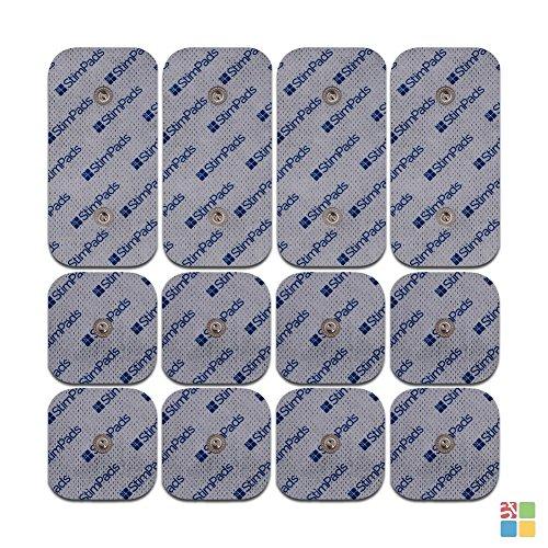 Electrodes pour Compex® seulement! Pack économique de 12 patchs d'électrostimulation « Garanti 100% Compex® compatible » Haute performance et longue durée de vie (4 X 50 X100mm bouton-pression DOUBLE et 8 X50X50mm) Economisez jusqu'à 60% par rapport à l'original!