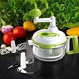 Uten Multifuncional Picadora de Frutas y Verduras con un Recipiente Grande para Verduras / Frutas / Carne / Zanahorias / Patatas / Pepinos, Máquina de Picar Alimentos