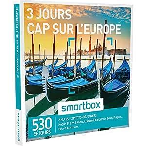 SMARTBOX - Coffret Cadeau - CAP SUR L'EUROPE - 3 JOURS - 530 séjours : hôtels de 3* à 5* à Venise, Madrid, Prague, Barcelone, Rome, Berlin