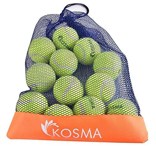 Kosma le lot de 12 balles de tennis Balls   Animaux   Jouet Chien Balle jouet pour animal- Formation en prise sac