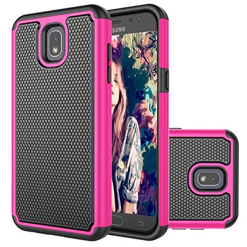 eutekcoo für Samsung J52017Telefon Fall, [tmajor Serie] Dual Layer Hard Cover rosa hot pink (Rosa Samsung-telefon-fall)