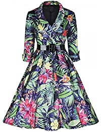 E-Girl M116618D Robe de bal Vintage pin-up 50's Rockabilly robe de soirée cocktail,S-XXL