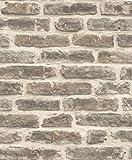 UGEPA Vliestapete rustikale Backsteinwand, beige, J17918