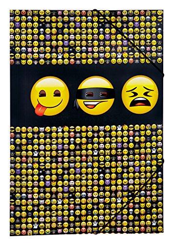 Undercover EMTU0290 - Gummizugmappe, Emoji, A3, 44 x 32 cm