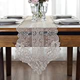 Tischdecken LXF Europäischen Stil Tischläufer Spitze Stoff Esstisch Tee Tisch Flagge TV Schrank Schön Und Einfach (Farbe : Beige, größe : 30*310cm)