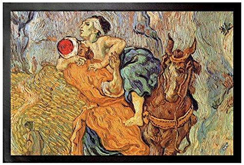 vincent-van-gogh-paillasson-essuie-pieds-le-bon-samaritain-daprs-delacroix-dtail-1890-60-x-40-cm