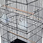 PawHut Large Metal Bird Cage for Parrot Parakeet Macaw Pet Supply Black 47.5L x 36W x 91H (cm) 13
