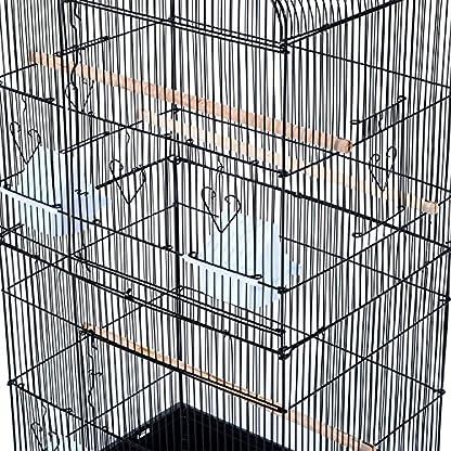 PawHut Large Metal Bird Cage for Parrot Parakeet Macaw Pet Supply Black 47.5L x 36W x 91H (cm) 6