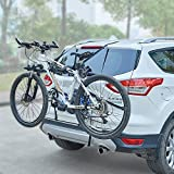 Blueshyhall Porte-vélo a Cinghie 2Biciclette per Auto Universale, Nero