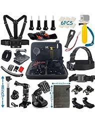 Vanwalk Zubehör-Kit für GOPRO HERO 5/4/3+/3/2/1, SJCAM, Aktion Kamera Zubehör-Kit für APEMAN Kamera, DBPOWER