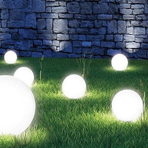 ProBache - Lampe boule 20 cm solaire