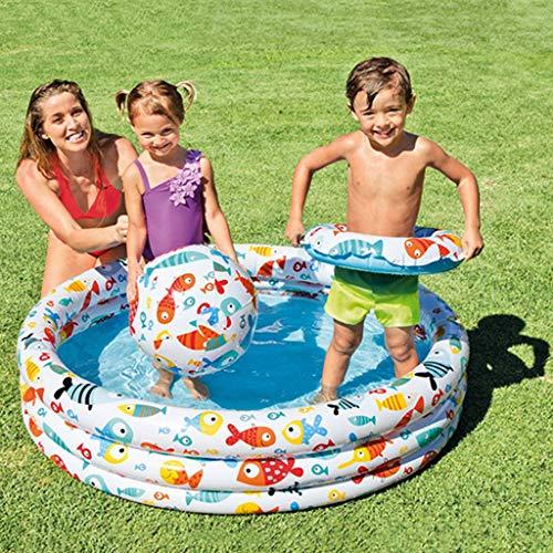 ToDIDAF Planschbecken für Babys Aufblasbarer Swimmingpool Kinder Schwimmbecken Persönlichkeit Schwimmbad Babypool Familie Aufblasbare Badewanne Pool Sandbad Spielzeug Für Hinterhof-Pool-Party (D)