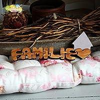 Olivenholz Schriftzug-Puzzle - FAMILIE -