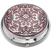 Pille Box (Standard Größe) in einem Arabesque Design in Rot Farbe preisvergleich bei billige-tabletten.eu