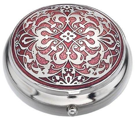 Pillendose (Standardgröße) in oriantalischem Design, rot