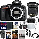 Nikon D5600 Wi-Fi Digital SLR Camera Body With 10-20mm VR Lens + 64GB Card + Case + Flash + Diffuser + Battery & Charger + Tripod + Kit
