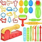 FOROREH Deeg Gereedschap Kit, 30 stuks Klei Deeg Gereedschap Plastic Kleurrijke Play Deeg Set, Kinderen DIY Plasticine Klei E