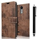 zStarLn brown PU Leather Bookstyle Wallet Case Cover Pouch