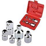 Sukudon-douille de clé/Lot de 13 douilles Torx T8-T70 en acier S2, jeu de clés à douille, lot de 6 adaptateurs et réducteurs