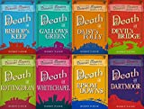 Robin Paige 8 Book set - Victorian Mystery Series Books 1-8 - Death at Bishop's Keep, Death at Gallows Green, Death at Daisy's Folly, Death at Devil`s Bridge, Death in Rottingdean, Death at Whitechapel, Death at Epsom Downs & Death at Dartmoor