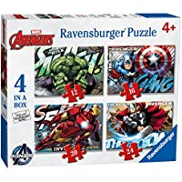 Ravensburger 7021 Marvel Avengers Assemble 4 in a Box Jigsaw Puzzles - 12, 16, 20 and 24 Pieces