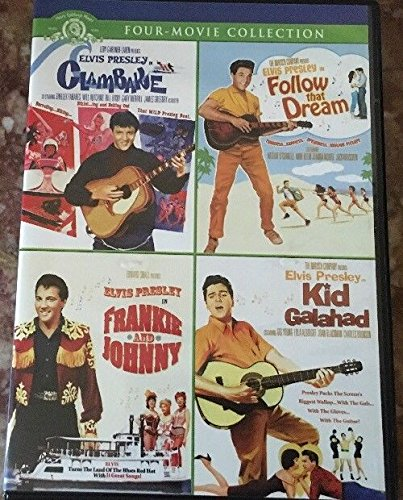 Elvis Presley Movie Collection 4 DVDS: Clambake - Follow That Dream - Frankie & Johnny - Kid Galahad