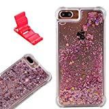 Best Iphone6plus Cases - iPhone6Plus/7Plus/8Plus Case, SXUUXB Luxury Heart Flowing Liquid Bling Review