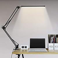 Lampe de Bureau LED, BIENSER 14W Lampe de Table Architecte Pliable avec Pince, 10 Niveaux de Luminosité X 3 Modes de…