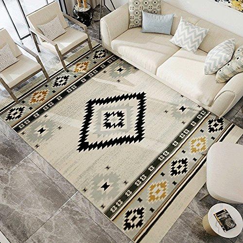 Irregular Geometría moderno grande alfombras nórdicos zona alfombra para salón o dormitorio comedor 31por 49Inch- maxyoyo Ultra suave moderno blanco negro gris alfombra, poliéster y mezcla de poliéster, Pattern 4, 31 by 49 inch