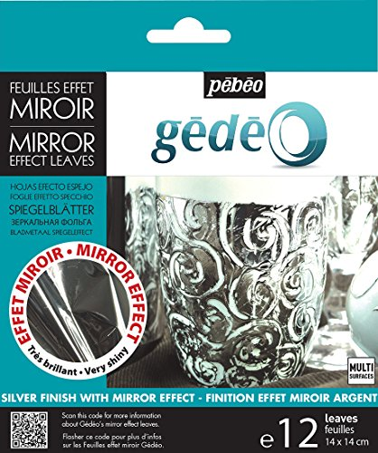 Pebeo Gedeo Mirror Effect Silver Leaves - 12 Sheets