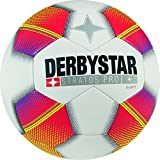 Derbystar Kinder Stratos Pro S-Light Fussball, weiß rot gelb, 3