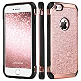 BENTOBEN Funda iPhone 6, Funda iPhone 6s, Ultra Delgada Cáscara Case Cover Brillante Resistente Anti-Golpes Híbrida PC + Silicona Combinadas Fundas para iPhone 6 / 6s, 4.7 Pulgadas - Oro Rosa