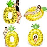Riesiges Aufblasbares Ananas Pool Floß Spielzeug Schwimmring Luftmatratzen 176*102cm Pusheng
