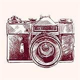 JP London sqcnv2263Kunstdruck auf Leinwand Point und Click Retro Kamera bei 66x 66cm