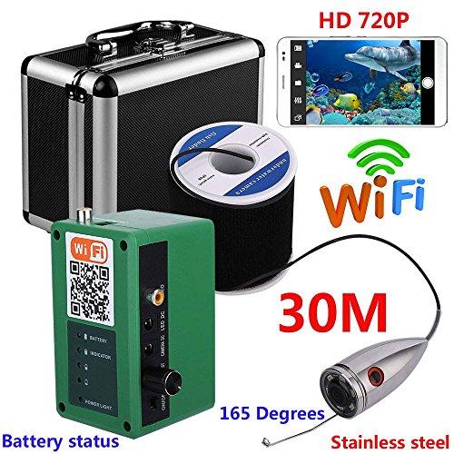WG HD WiFi Wireless 30M Unterwasserfischerei Kamera Video Aufzeichnung Für IOS Android APP