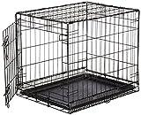 AmazonBasics Hundekäfig mit 1 Tür, Metall, zusammenklappbar, Gr. S