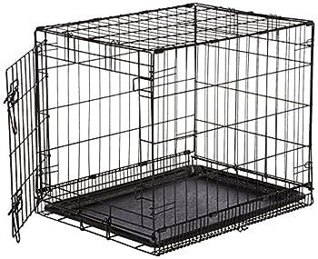 AmazonBasics Cage pliante en métal avec 1porte pour chien TailleS