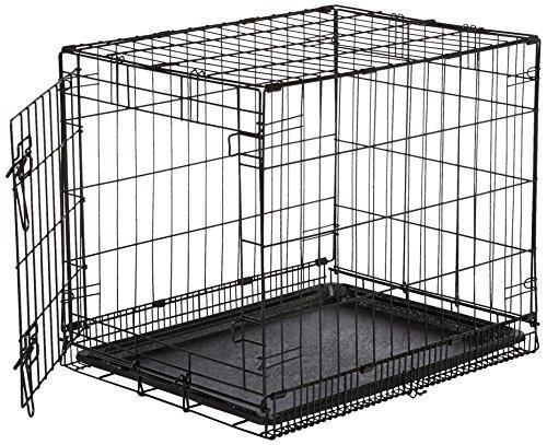 AmazonBasics Hundekäfig mit 1 Tür, Metall, zusammenklappbar, Gr. S (Welpen Kisten Für Kleine Hunde)