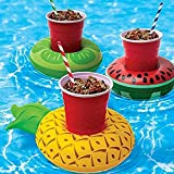 3pcs Inflatable Float Drink Holder Summer Swim Pool Fruit Cup Holder Bathroom Bath Hot Tub Water Toys for Swimming Pool Beach Party Beverage