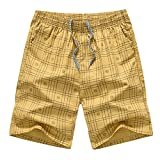 AnyuA Homme Casual Sports Shorts Pantacourt Outdoor Plage Shorts Bermuda  Jaune 2XL d4df52cf7df0