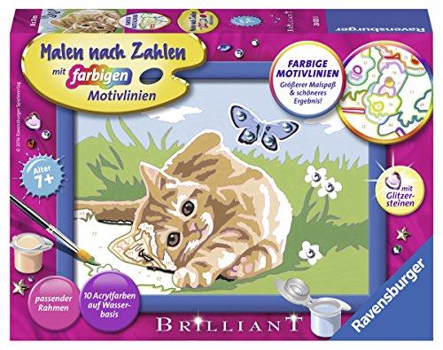Ravensburger Malen nach Zahlen 28023 - Kätzchen mit Schmetterling, Malset