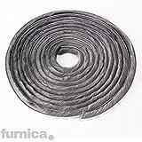 FURNICA 5m - H20mm - Bürstendichtung Grau, Selbstklebend