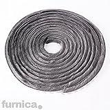 FURNICA 10m - H4mm - Bürstendichtung Grau, Selbstklebend