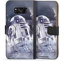 Samsung Galaxy S8 Tasche Leder Flip Case Hülle R2d2 Star Wars Fanartikel Merchandise