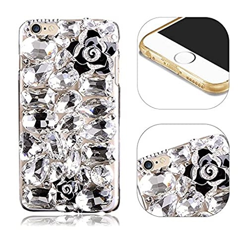 Coque pour iPhone 6S Plus Bing Glitter Etui,MingKun 3D Handmade éclat Diamant Cristal Strass Coque pour iPhone 6 Plus / iPhone 6S Plus 5.5 Pouces Anti-Chocs Housse 3D Handmade Bling Strass Case Cover