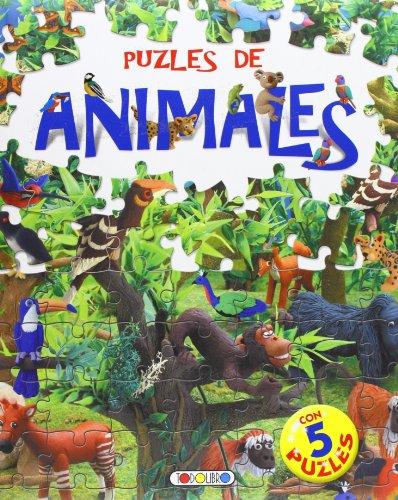 Puzles de animales (Libro puzle de 24 piezas) por Equipo Todolibro